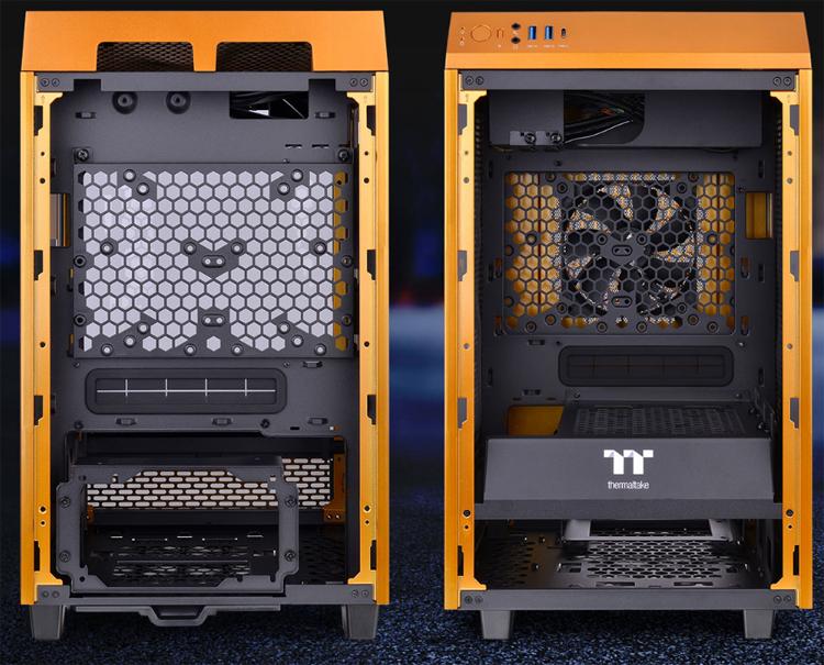 Thermaltake представила корпус The Tower 100 в необычном цвете Metallic Gold1