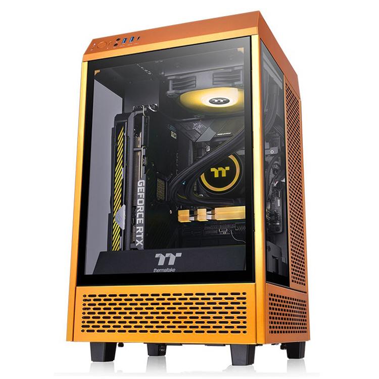 Thermaltake представила корпус The Tower 100 в необычном цвете Metallic Gold2