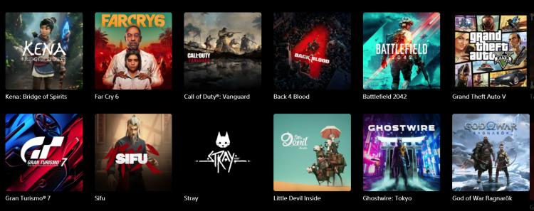 Категория релизов «скоро» на сайте PlayStation