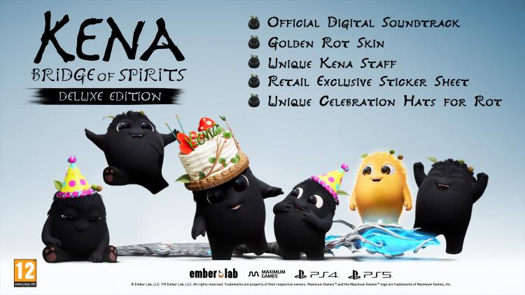 Наполнение розничного издания Kena: Bridge of Spirits от Maximum Games