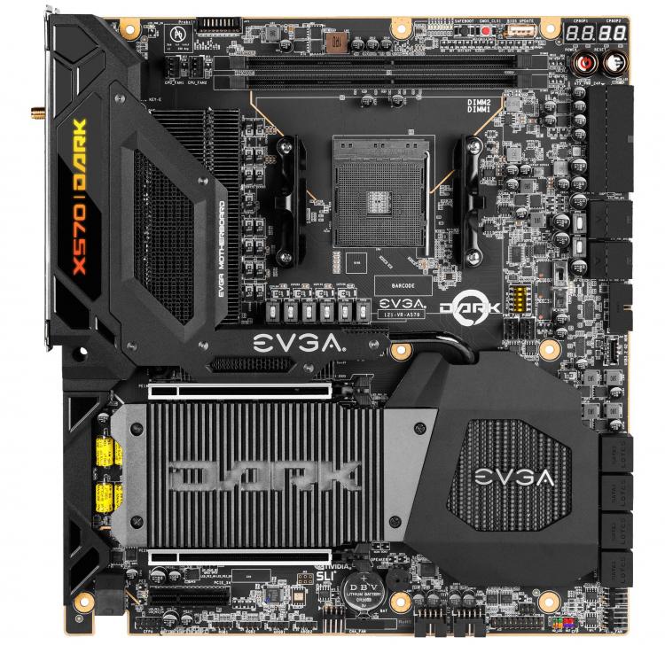 """EVGA оценила материнскую плату X570 Dark для экстремального разгона чипов AMD Ryzen в $690"""""""