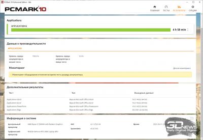 PCMark'10 «Applications» (4 ч 58 мин)