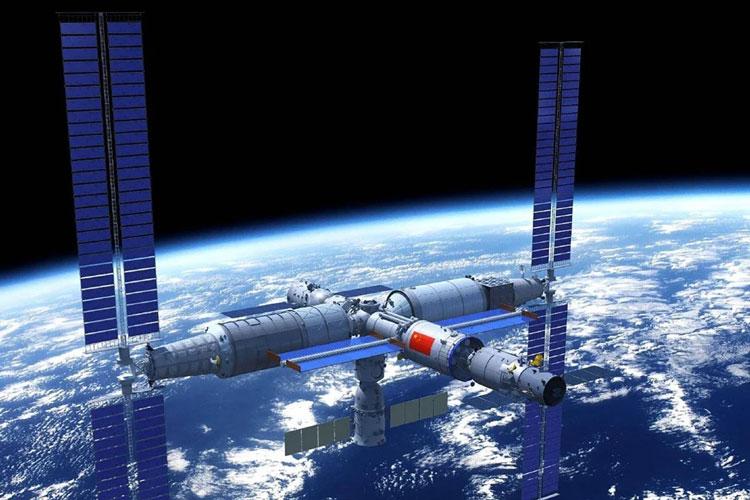 Проект китайской орбитальной станции. Источник изображения: Weibo
