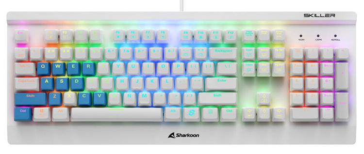 Sharkoon представила клавиатуру Skiller SGK3 White с переключателями Kailh
