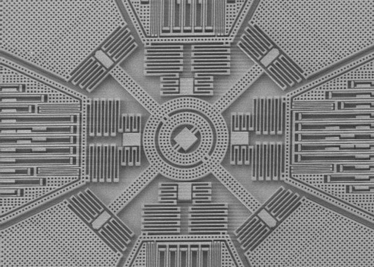 Иллюстрация одного из многих исполнений МЭМС