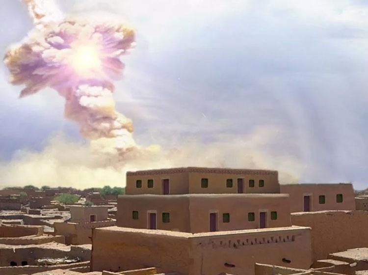 Взрыв метеорита в атмосфере в представлении художника. Источник изображения: Allen West and Jennifer Rice, CC BY-ND