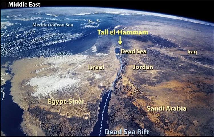 Современная география местности. Источник изображения: NASA