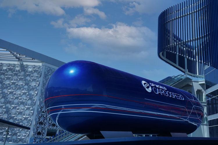 Макет грузовой капсулы. Источник изображения: Virgin Hyperloop