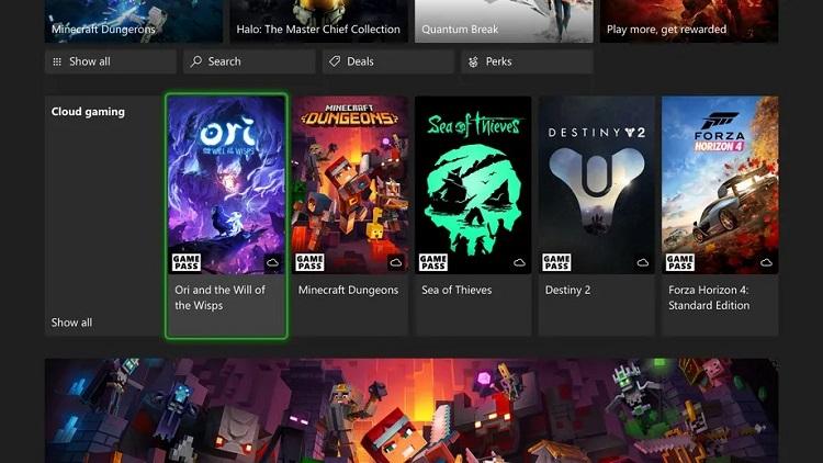 Избранные участники программы Xbox Insiders получили доступ к Xbox Cloud Gaming на консолях