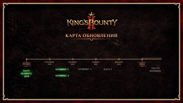 Разработчики King's Bounty II выпустили вторую заплатку и раскрыли сроки выхода следующих обновлений