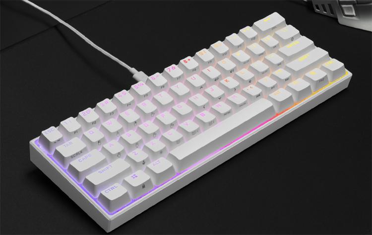 """Corsair выпустила компактную игровую клавиатуру K65 RGB Mini в белом цвете"""""""