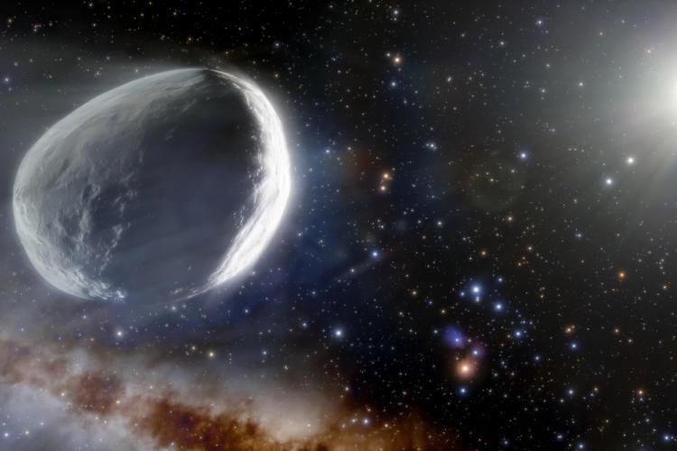Художественное изображение кометы C/2014 UN271 Бернардинелли — Бернштейна / Здесь и далее источник: newatlas.com