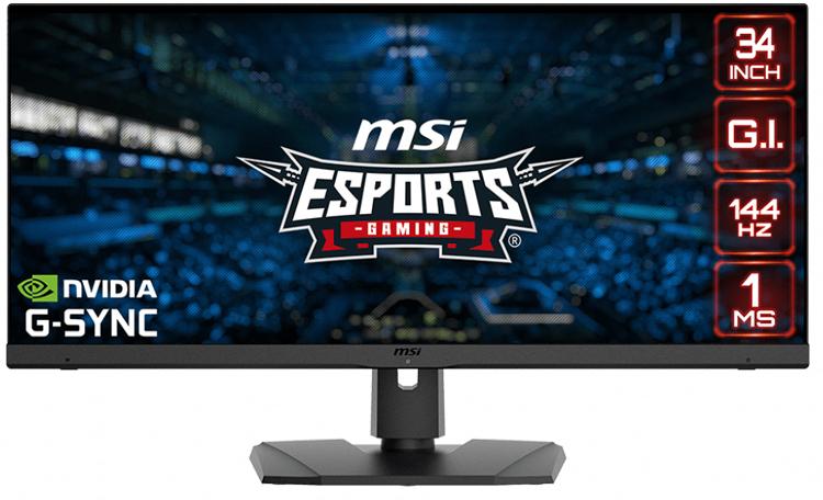 MSI выпустила 34-дюймовый игровой монитор Optix MPG341QR с разрешением 1440р и частотой 144 Гц