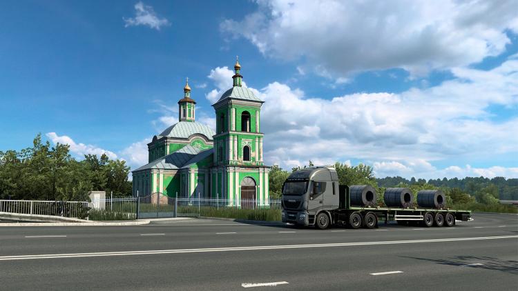 «Панельки» и церкви на новых скриншотах дополнения «Сердце России» к Euro Truck Simulator 2