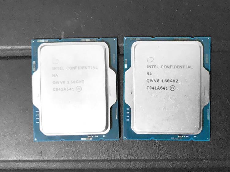 Инженерный образец процессора Alder Lake-S второй ревизии (ES2)