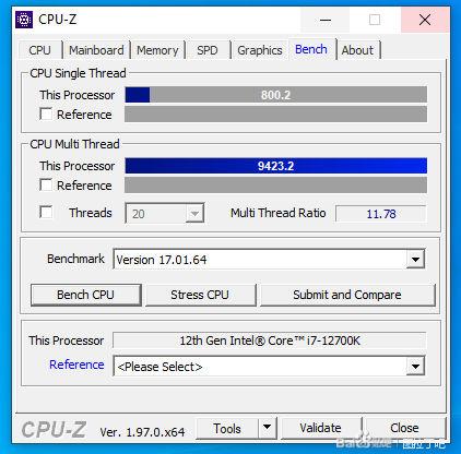 В тесте CPU-Z процессор Core i7-12700K оказался до 45 % быстрее, чем Ryzen 7 5800X и Core i9-11900K