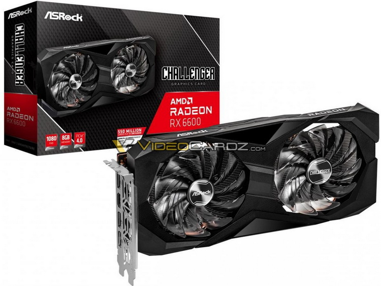 AMD Radeon RX 6600 в исполнениях XFX, ASRock и PowerColor показались на изображениях