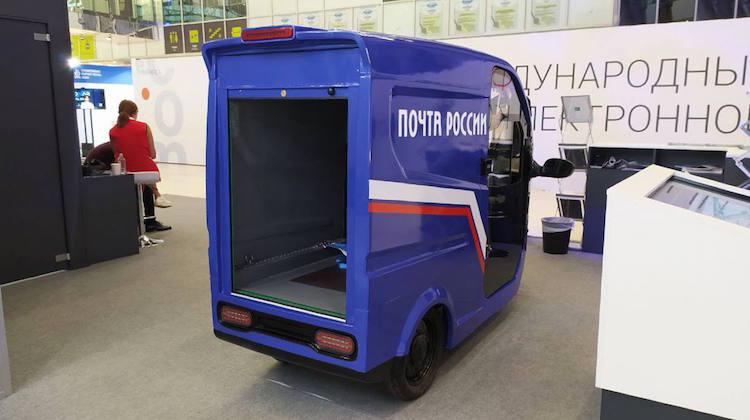 Российская компания представила трёхколёсный электроцикл для «Почты России» и служб доставки