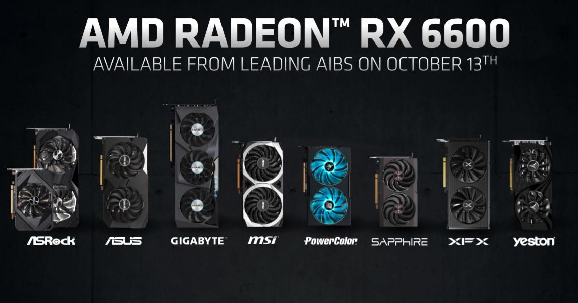 AMD представила видеокарту Radeon RX 6600 для комфортного гейминга в разрешении Full HD