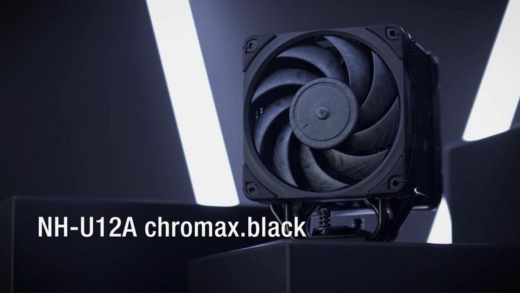 Noctua выпустила чёрный процессорный кулер NH-U12A chromax.black за $120
