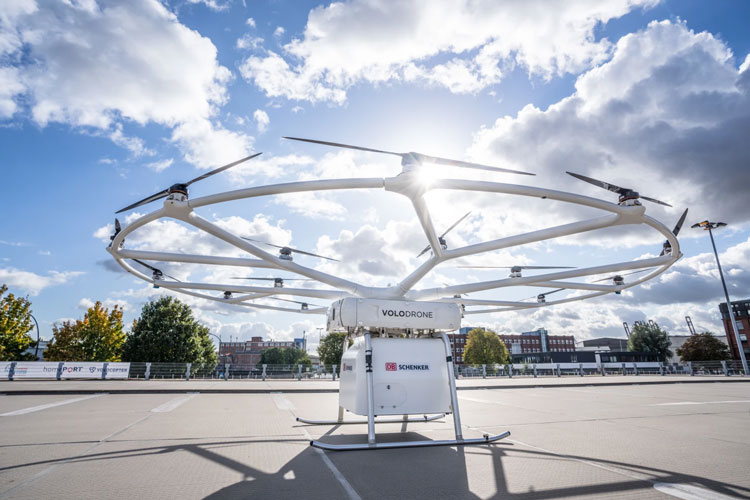 НемецкаяVolocopter показала испытания тяжёлого грузового дрона