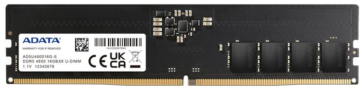 ADATA представила модули оперативной памяти DDR5 с частотой 4800 МГц