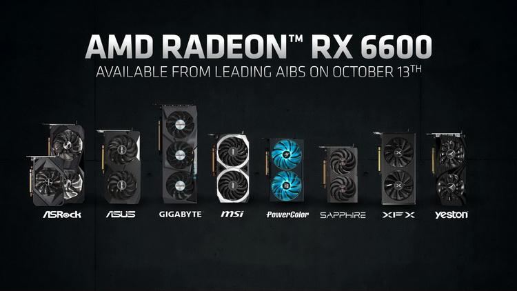 Партнёры AMD представили свои версии видеокарты Radeon RX 6600 — все без заводского разгона