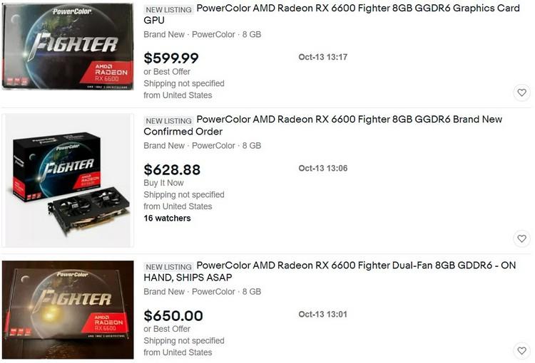 Старт продаж Radeon RX 6600: тотальный дефицит и огромные ценники