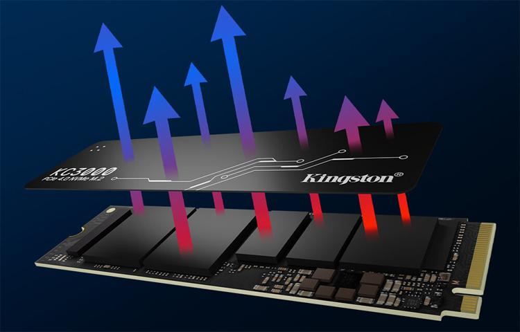 Представлены твердотельные накопители Kingston KC3000 со скоростью чтения до 7000 Мбайт/с