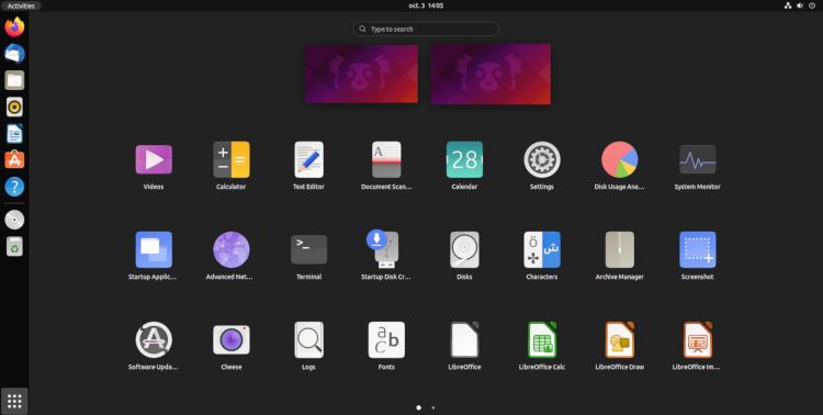 Состоялся релиз Ubuntu 21.10: обновлённое ядро, GNOME 40 и многое другое