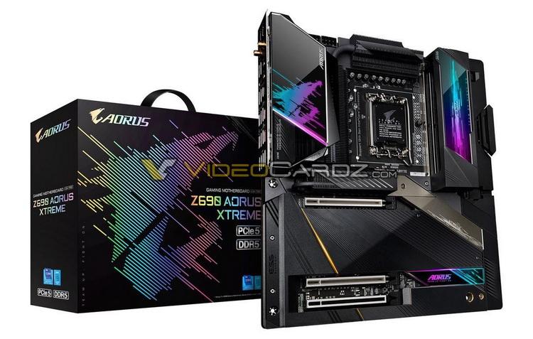 Флагманская плата Gigabyte Aorus Z690 Xtreme с поддержкой PCIe 5.0 и DDR5 показалась на фото