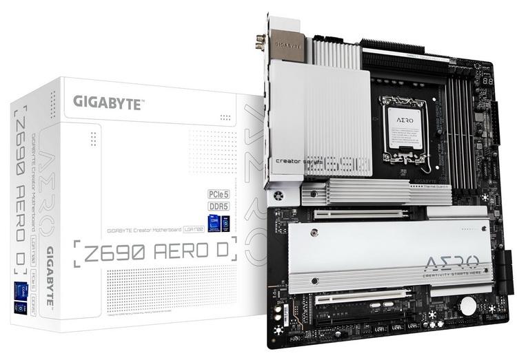 Материнская плата Gigabyte Z690 Aero D со строгим дизайном показалась на фото