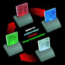 Colour Changing Push Clock
