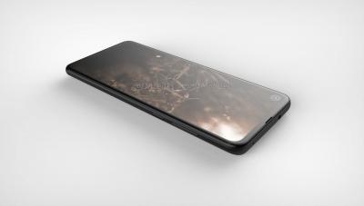 """Рендеры Motorola P40 с «дырявым» экраном и 48-Мп тыльной камерой"""""""