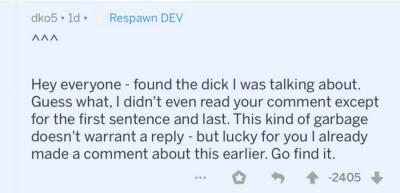 """В ответ на критику разработчики Apex Legends начали обзывать игроков неприятными словами"""""""