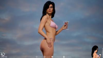 """Художник создал 3D-модели девушек с обложек GTA: Vice City и San Andreas, а также персонажей других игр"""""""